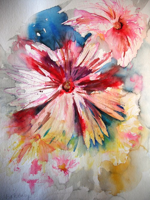 104029 Feuriger Sommer 50 x 65 Aquarell